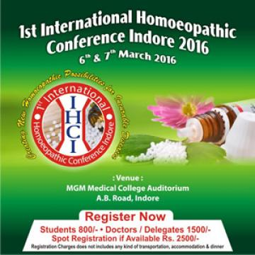 1st International Homoeopathic Conference Indore 2016